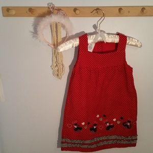 Wonder Kids Size 5T Red Lady Bug Polka Dot Jumper